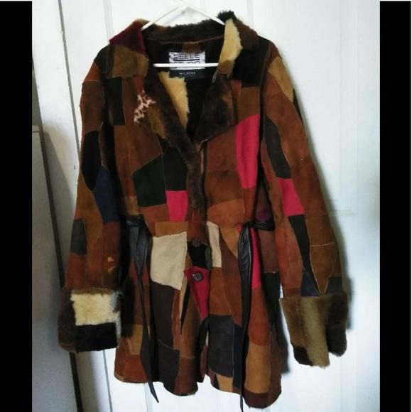 1adf6c0dd4 XL Wilson's Suede Vintage Patchwork Coat 🧥